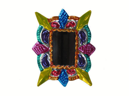 Tin, Rectangle Frame with Mirror, ornament