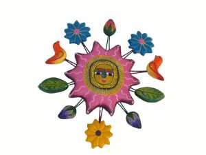 Sun (pink) Wall Art, Mexican Pottery