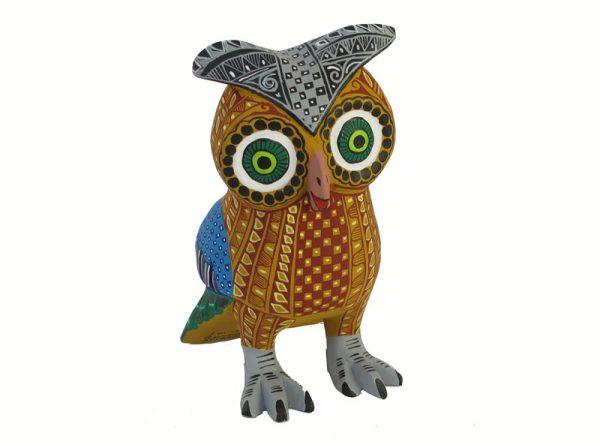 Owl, Oaxacan Carving, tan body
