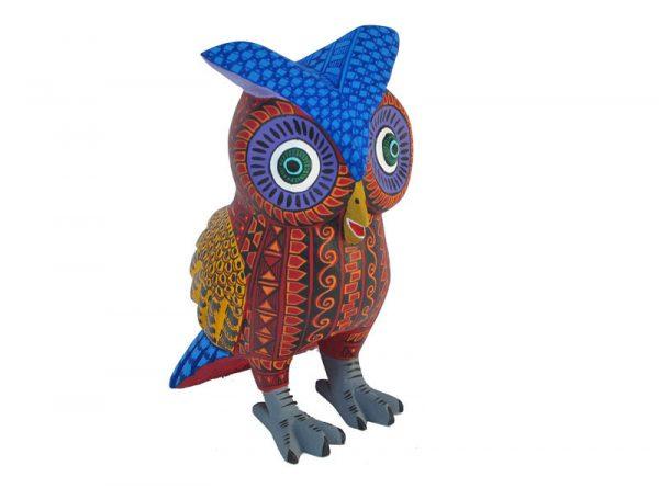 Owl Alebrije, red body/orange wings