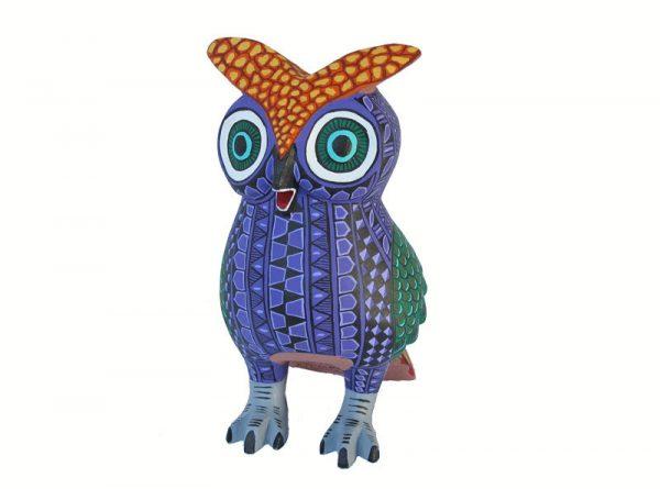Owl Alebrije, purple body/green wings