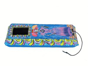 Coffin Pull Toy, with Catrina illustration