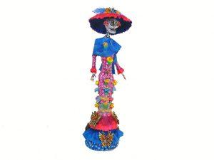 La Catrina, Paper Maché Figurine, 12-inch, #3