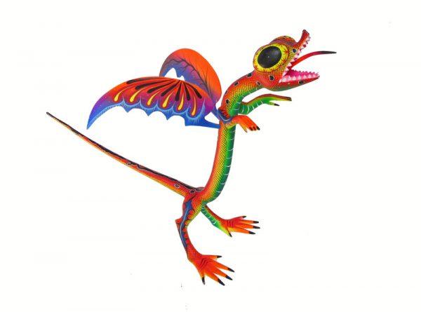Coatlique Dragon, Oaxaca Alebrije by Blas family, 11-inch tall