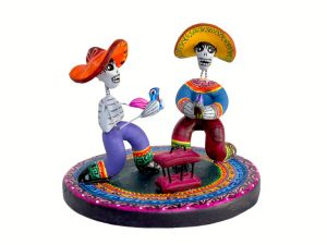 Skeleton Galleros, Mexican pottery figurine