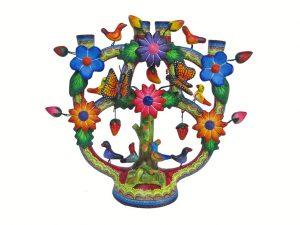 Primavera, Mexican Pottery Candelabra, 21 cm.