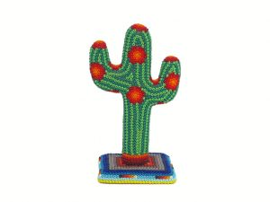 Huichol Art Cactus, 4.5-inch tall