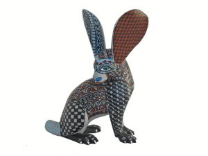 Rabbit, Oaxacan Wood Carving, 7.5 inches tall