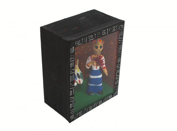 Frida Kahlo and Diego Rivera, Skeleton Diorama Box