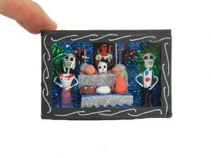 Skeletons at Altar, Mini Diorama Box, 3-inch