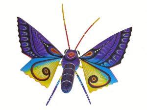Butterfly Alebrije, Oaxacan Wood Carving, 7-inch long