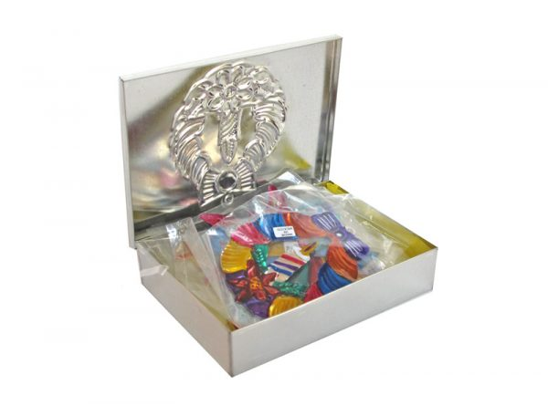 A Christmas Collection - Boxed Set of 10 Painted Tin Ornaments