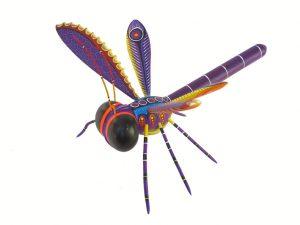 Dragonfly Alebrije by Blas family, 11-inch long, 4 wings