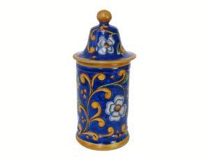 Covered Jar, by Mayólica Santa Rosa pottery, blue