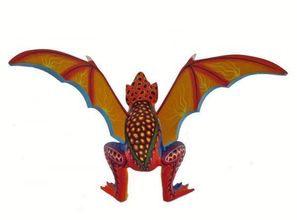 Bat Alebrije #4, Oaxacan carving by Rogelio Blas