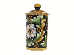 Covered Jar, by Mayólica Santa Rosa pottery, black