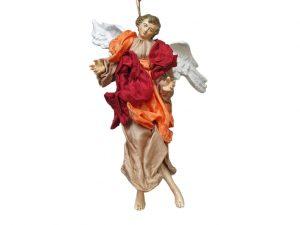 Neapolitan Nativity Angel, terra-cotta, (9-inch, 23 cm.), brown/red/orange