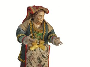 Neapolitan Terracotta Market Lady, Nativity Figurine
