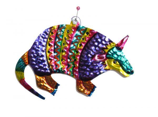 Armadillo, Mexican tin ornament