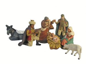 Nativity Set, Neapolitan Pastori, 9 pieces, 12 cm. tall (4.5-inch)