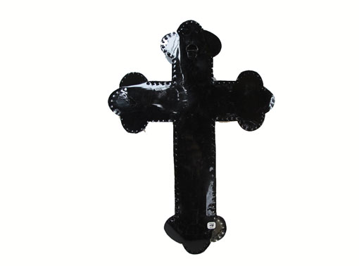 Tin Wall Cross with Lady Guadalupe, 14-inch