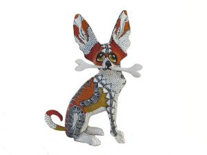 Chihuahua #2, Oaxacan Carving by Tribus Mixes, 9-inch