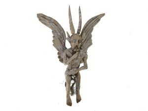 WINGED Devil, wooden wall art by Tribus Mixes