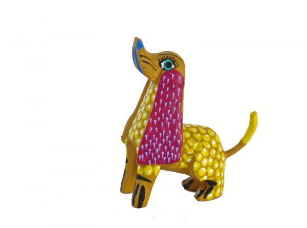 MINI CARVING Stocking Stuffer - Dog Alebrije, multi-colors
