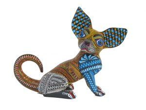 Chihuahua Alebrije by Mario Castellanos, 9-inch long