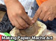 making papier mache art