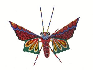 Butterfly, Oaxacan Wood Carving, by Blas Family, wing-span 8 inches
