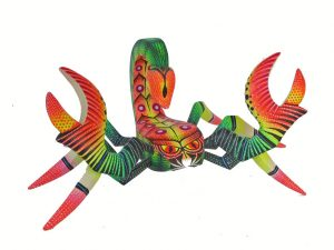Scorpion, Oaxacan Wood Carving by Blas family, 7-inch long