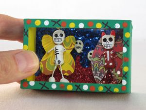 Two Winged Bugs Skeletons, MINI Diorama Box, 3-inch