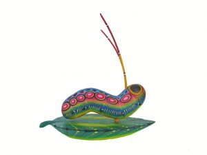 Guisano On Leaf, Oaxacan Wood Carving, 7-inch long