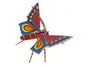 Butterfly Alebrije, Oaxacan Wood Carving by Blas Family, wingspan 8.5-inch