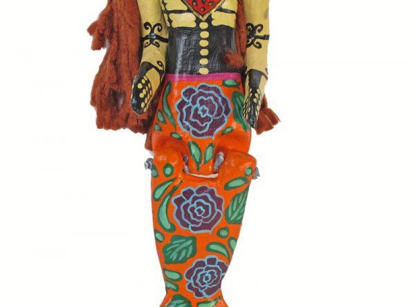 Skeleton Mermaid with Rag Doll Hair, 18-inch