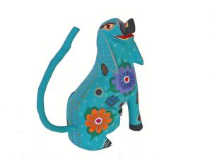 Dog Alebrije By Roberta Angeles, sitting 5-inch tall