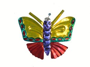 Butterfly, tin ornament