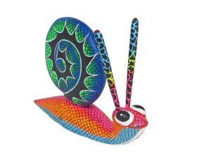 Snail, Oaxacan Alebrije by Blas Family, 6.5-inch long